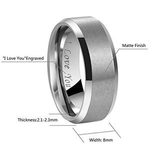 Other - Silver Men's Wedding Ring
